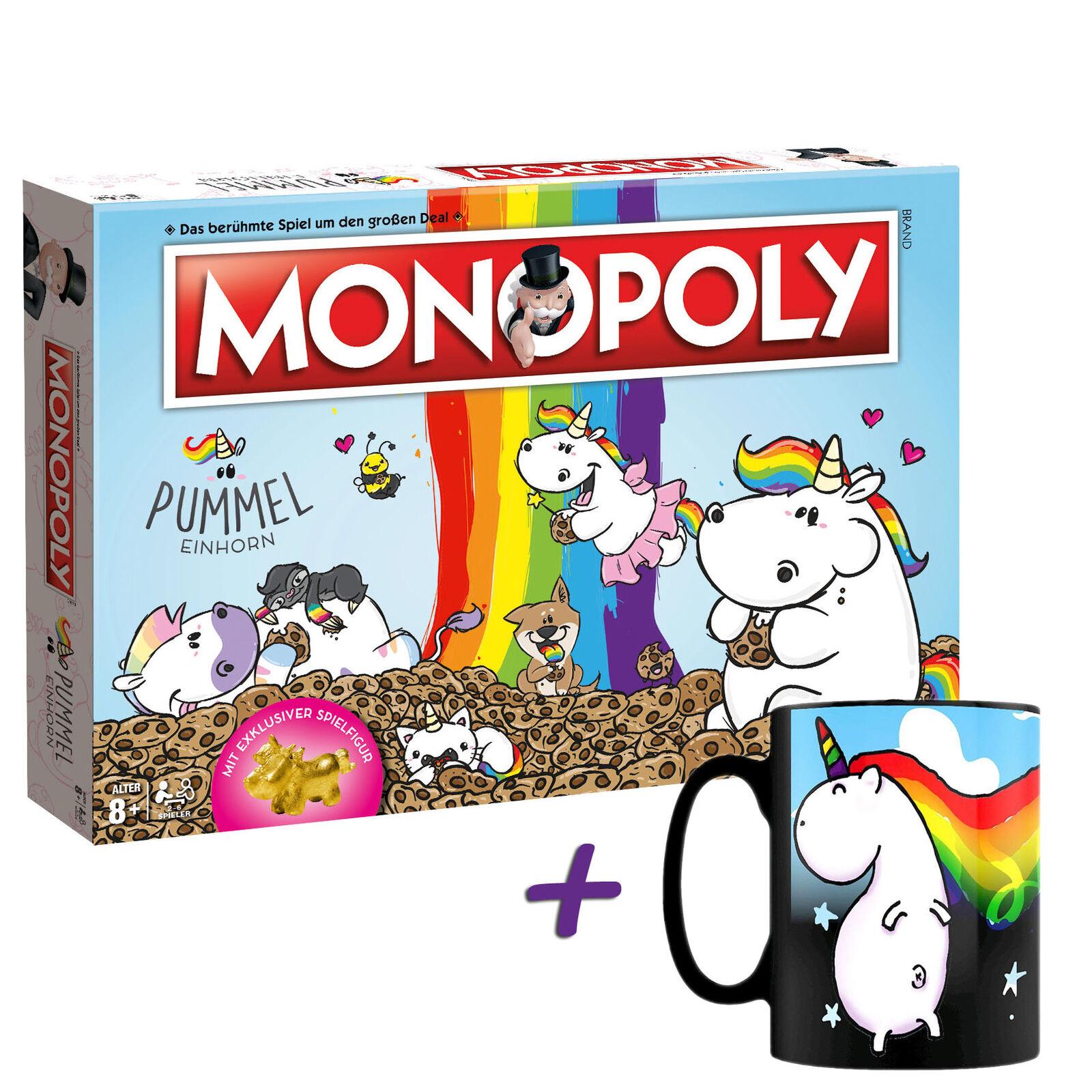 Monopoly Pummeleinhorn Collector's Edition oro + Tazza Magica Unicorno   Sparkle