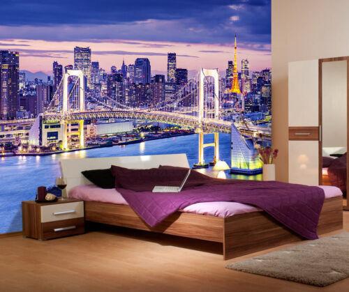 Rainbow Bridge Tokyo Japan Full Wall Mural Photo Wallpaper Print Home 3D Decal