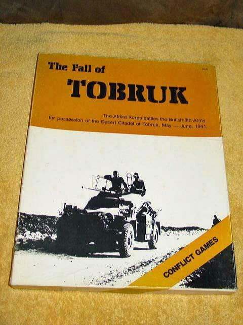 Conflict giocos -  The Ftutti of Tobruk - Afrika Korps Battles British 8th Army 1941  alto sconto