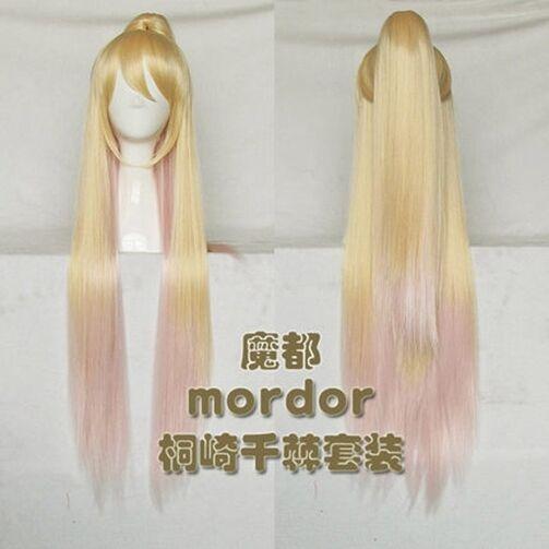 Kirisaki Chitoge Straight Cosplay Wig Nisekoi Beautiful Cos Party Wig Hair