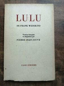 Frank Wedekind - Lulu / L'age d'Homme, 1969