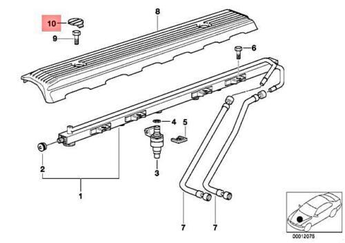 Genuine BMW E34 E36 E38 E39 Z3 Cover Trim Cap For Engine Coil OEM 11121726089