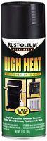 Rust-oleum 12oz High Heat Spray Paint Bbq Black Stops Rust Stoves Grills Engines
