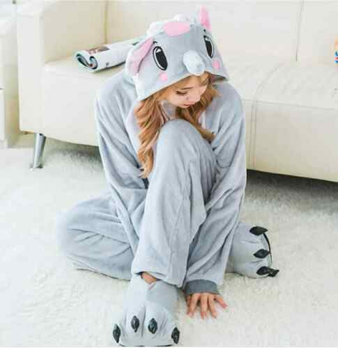 Unisex soft Sloth Kigurumi Onesie0 Pajama Animal Costume Xmas Gift