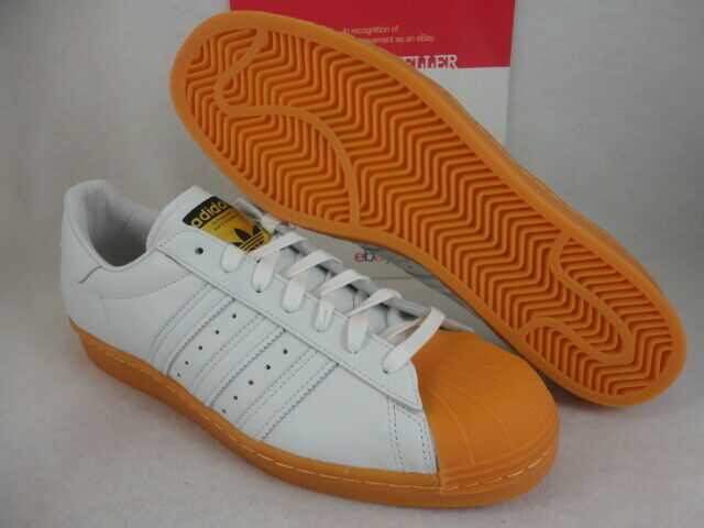 Adidas Superstar 80s DLX, White   Metallic gold, S75830, Size 12