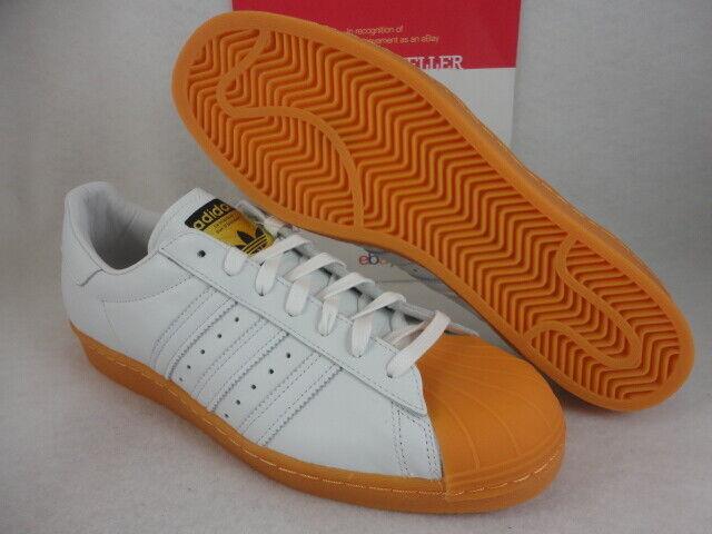 2d4e72b7e9fb S75830 Men s adidas Originals Superstar 80s DLX White Gum Bottom Adm73 12  for sale online