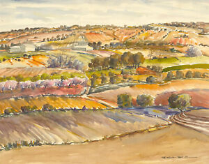 Juan-Sevilla-Saez-1922-2018-20th-Century-Watercolour-Paisaje-de-Fuensanta