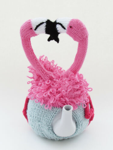 Flamingo Tea Cosy Knitting Pattern to Knit your own cosy with Flamingos in Love