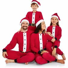691534472c item 1 NEW Holiday Family One Piece Pajamas Santa Union Suit   Hat Womens  Kids S M L XL -NEW Holiday Family One Piece Pajamas Santa Union Suit   Hat  Womens ...