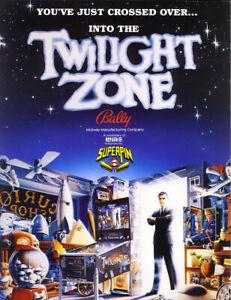 Twilight-Zone-Pinball-Machine-FLYER-Original-1993-NOS-Bally-Artwork-Rod-Serling