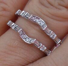 .50ct H/SI1-Si2 Diamond guard wrap wedding band 14k WG