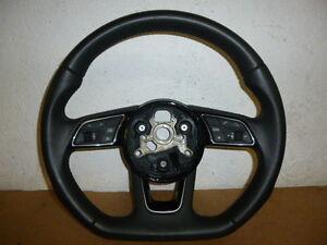 Audi-A3-8V-Leder-Lenkrad-abgeflacht-Multifunktion-steering-wheel-Q2-81A-S-Line
