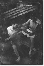 MUAY THAI MOTIVATIONAL PHOTO PRINT 07 MOTIVATION QUOTE POSTER MMA MARTIAL ARTS