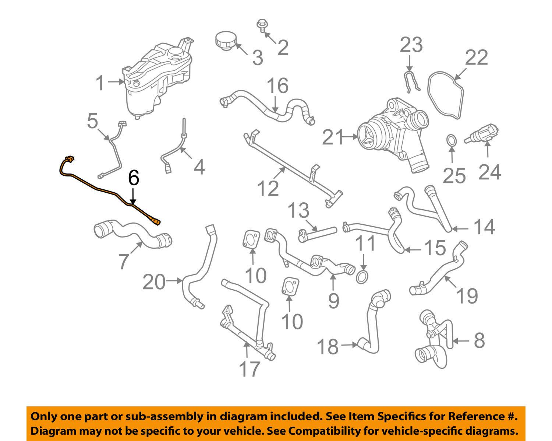 Land Rover Oem 08 12 Lr2 32l L6 Cooling Overflow Hose Lr019341 Ebay Engine Diagram