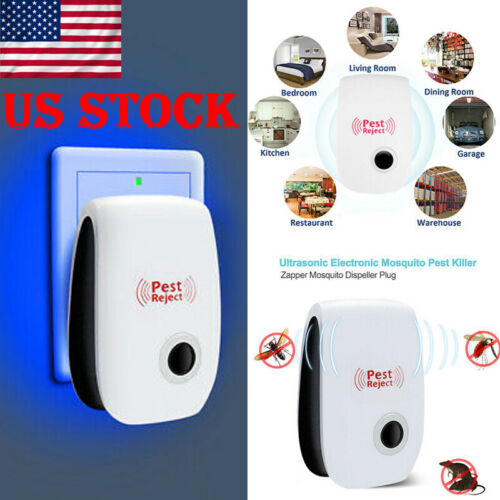 US Electronic Pest Repeller Reject Mosquito Rat Mouse Ultrasonic Control Insect
