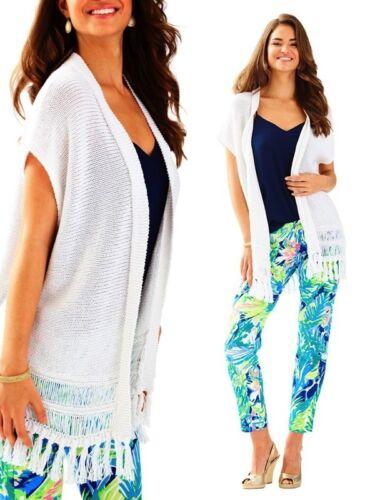 NWT Lilly Pulitzer Bedford Layering Cardigan//Vest Resort White XXS//XS,S//M,L//XL