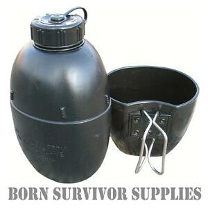NEW-British-Army-Issue-NATO-Osprey-Water-Bottle-amp-Mug-58-Pat-Survival-Canteen