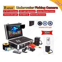Eyoyo 9 Display+30m Underwater Camera Fish Finder+sunvisor&ir Led Adjustable