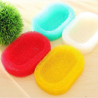 Creative 1PC Kitchen Clean Soap Dishes Mesh Sponge Soap Holder Random Colour