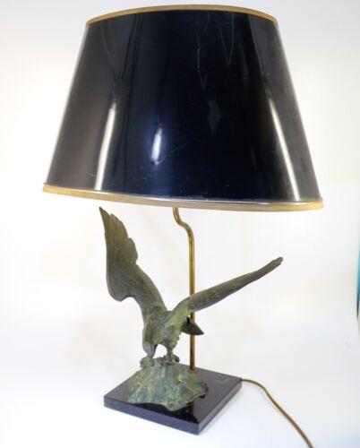 Große grün patinierte Bronze Adler Tischlampe - 18504 –