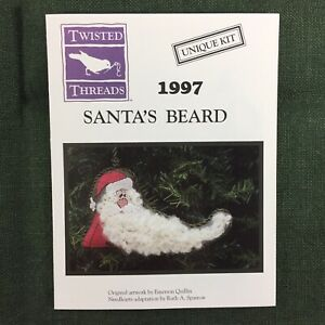 Twisted Threads Santa's Beard Cross Stitch Kit Unique 1997 Santa Christmas New