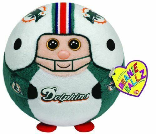 Miami Dolphins Nfl Beanie Ballz Stuffed Animal By Ty 38084 Ebay