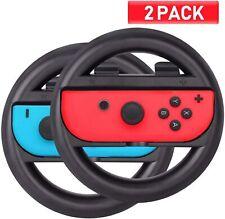 2pack Racing Steering Wheel For Switch Mario Kart Joy Con Controller Handle Grip