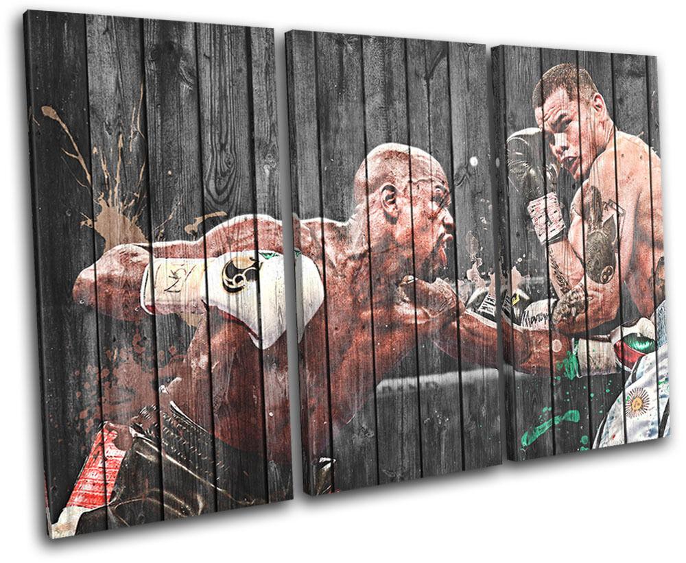 Mayweather Maidana Boxing  Sports TREBLE TELA parete arte foto foto foto stampa 9ef5c3