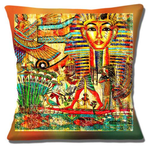 40 cm TOUTANKHAMON Masque PHARAON EGYPTE SYMBOLES Egyptian Theme Housse de coussin 16 in environ 40.64 cm
