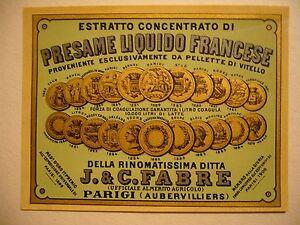 PRESSAME-LIQUIDO-FRANCESE-J-amp-C-FABRE-PARIGI-ETICHETTA-ORIGINALE