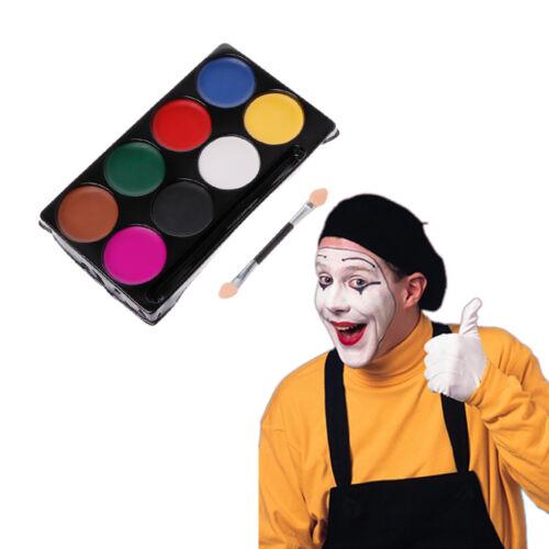 8 Colors Body Face Paint Kit Makeup Art Painting Pigment Fancy Dress Up Party