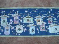 Wallpaper Sunworthy Discontinued Borders 160231 Birdhouses Blue Wide Nip