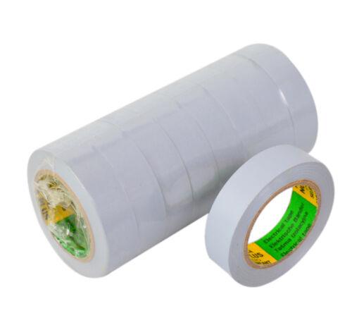 Nastro ISOLANTE 5 ROTOLI NASTRO ISOLANTE ELETTRICISTA NASTRO ADESIVO 10m x 15 mm GRIGIO