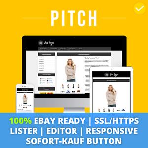 PITCH-BLACK-eBay-Template-2019-Responsive-Ebayvorlage-Auktionsvorlage-SSL-HTTPS