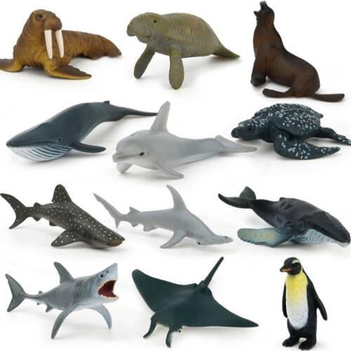 12X Enfants petit figurines en plastique modèle de dinosaure animal jouet cadeau