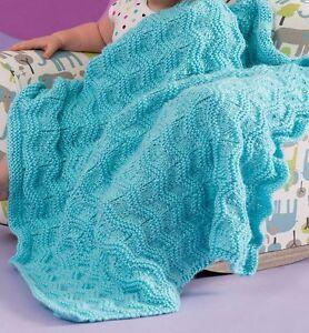 Knit Baby Blanket Wave Pattern : KNITTING PATTERN - BEAUTIFUL CHEVRON WAVES BABY BLANKET/SHAWL eBay