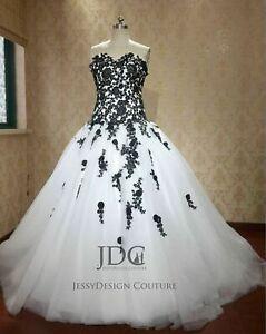 Weiß schwarz brautkleider in Brautkleider Schwarz