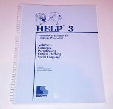 Help 3 Handbook of Exercises for Language Processing Spiral Book Binding (AN)