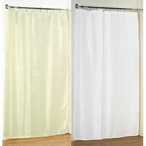 """Stall Size Fabric Shower Curtain: 54""""W x 78""""L, Weighted Hem, Water Resistant"""