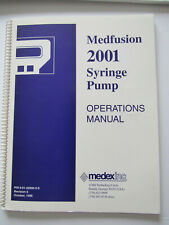 Medex Medfusion 2001 Syringe Pump Operator Operations Manual Software 14 Amp 14a