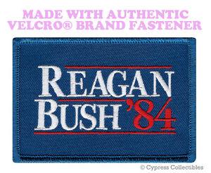 REAGAN-BUSH-84-MORALE-PATCH-USA-REPUBLICAN-TACTICAL-w-VELCRO-Brand-Fastener