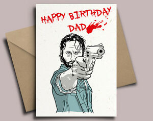 The walking dead rick grimes personalised birthday card ebay image is loading the walking dead rick grimes personalised birthday card m4hsunfo