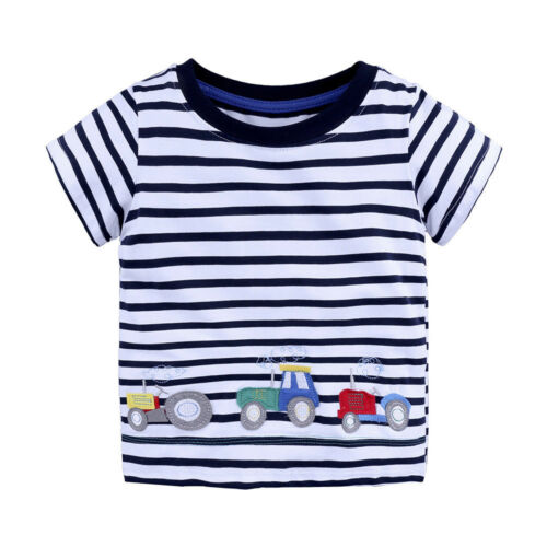 Infant Toddler Baby Kid Boys Girl T Shirts Cartoon Print Shirts Tops Outfits Tee