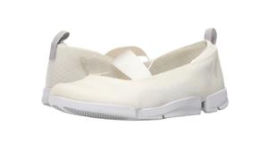 Clarks Active Trigenic - Tri Skipp White Women's Flat Shoes Mesh Sneaker New 9.5