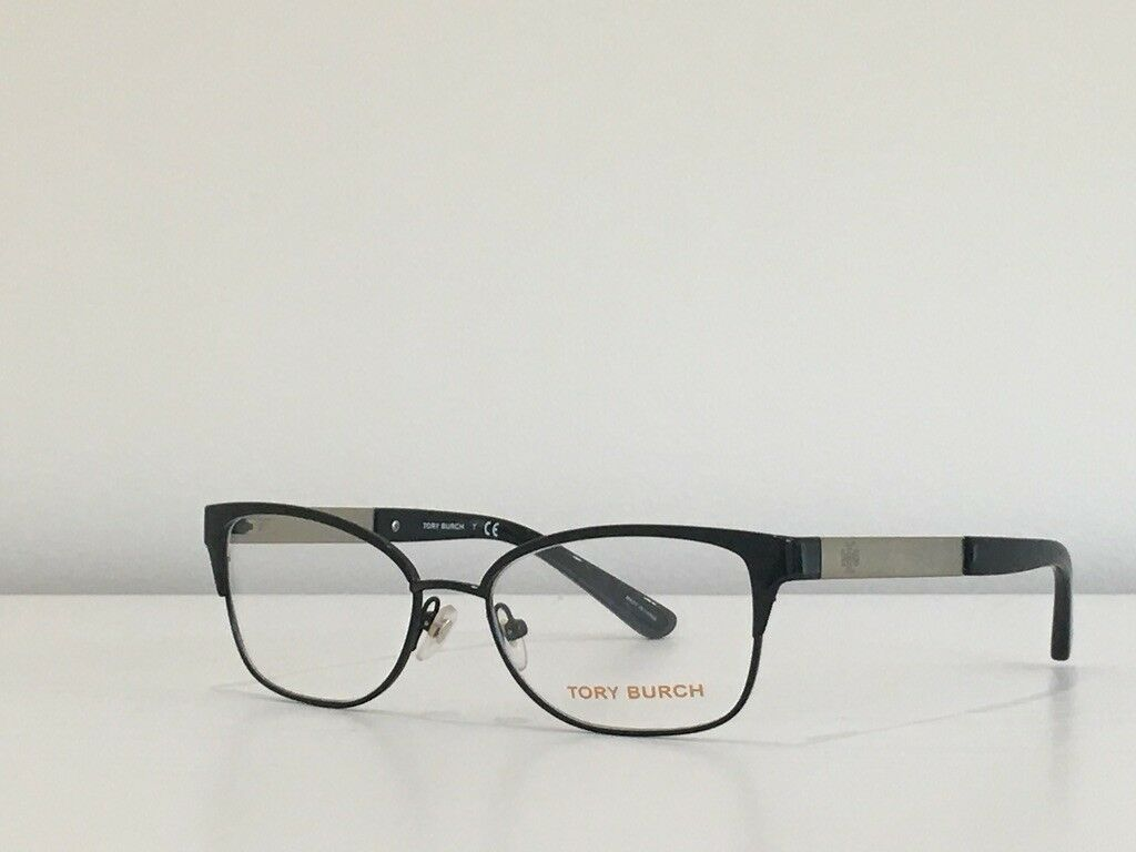 41 Tory Burch TY 1046 3100 Rectangle Black Gold Eyeglasses Frame 50*16*135