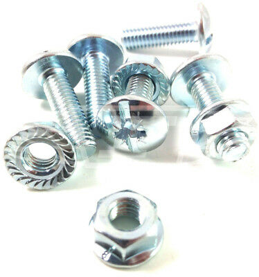 M6 x 30mm ROOFING CABLE TRAY BOLTS SERRATED FLANGE NUTS ZINC POZI COMBO DRIVE