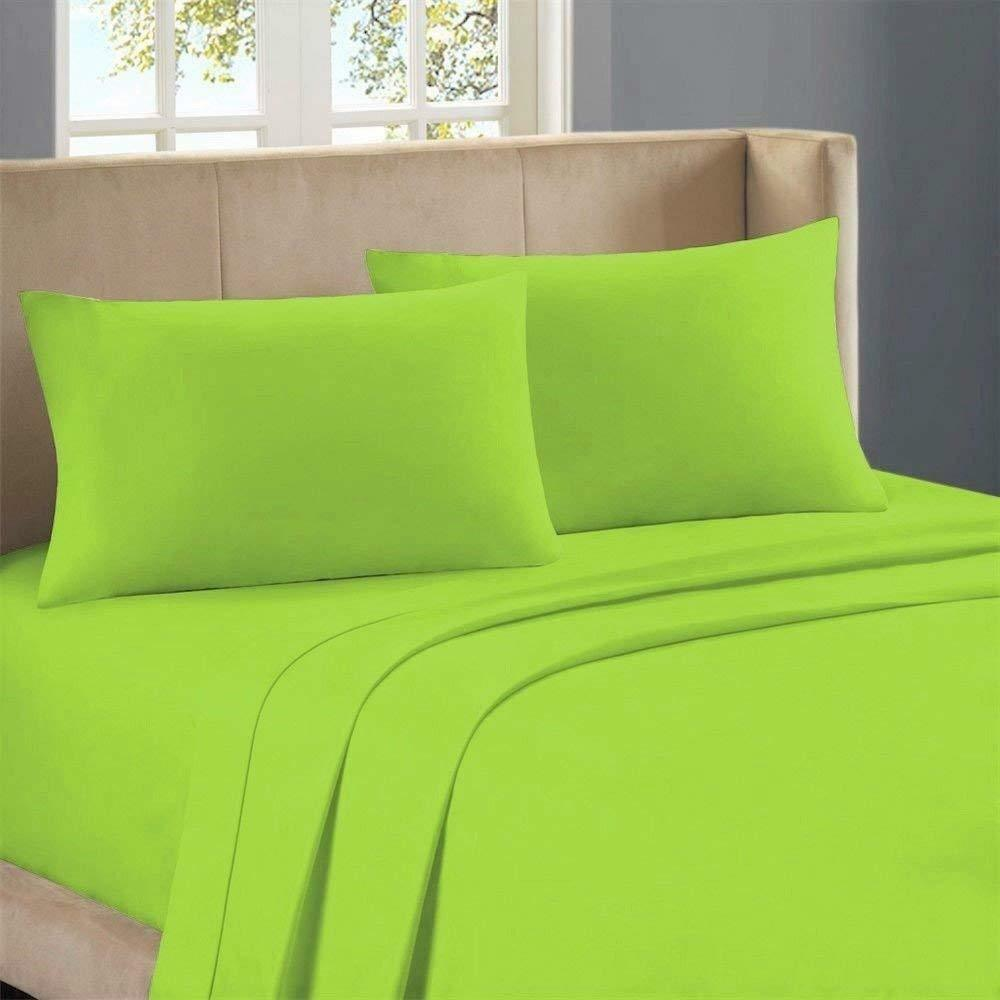 1000 Thread Count Egyptian Cotton Scala Bedding All Sizes Parred Green Solid
