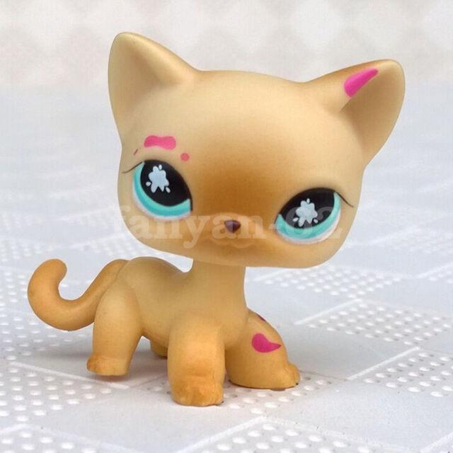 Littlest Pet Shop Lps Toys 816 Messiest Pink Paint Splatter Cat Kitty Blue Eyes For Sale Online Ebay