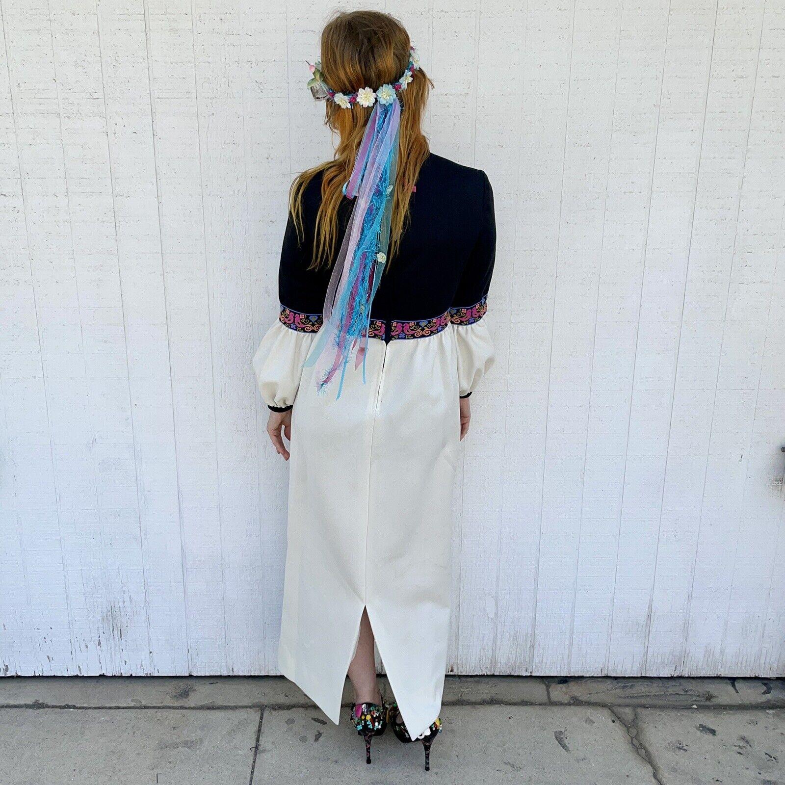 Vintage Fairycore Maxi Dress Hippie Clothes Puffy… - image 2