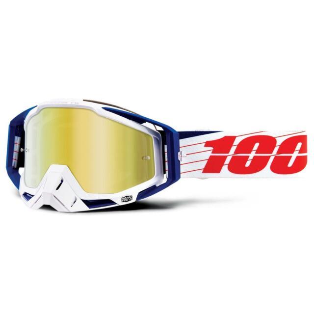 100/% Motocross Brille Zoolander Racecraft KLAR Prozent MX Enduro Schwarz Weiß